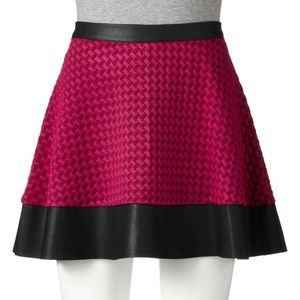 Candie's Faux Leather Skater Skirt